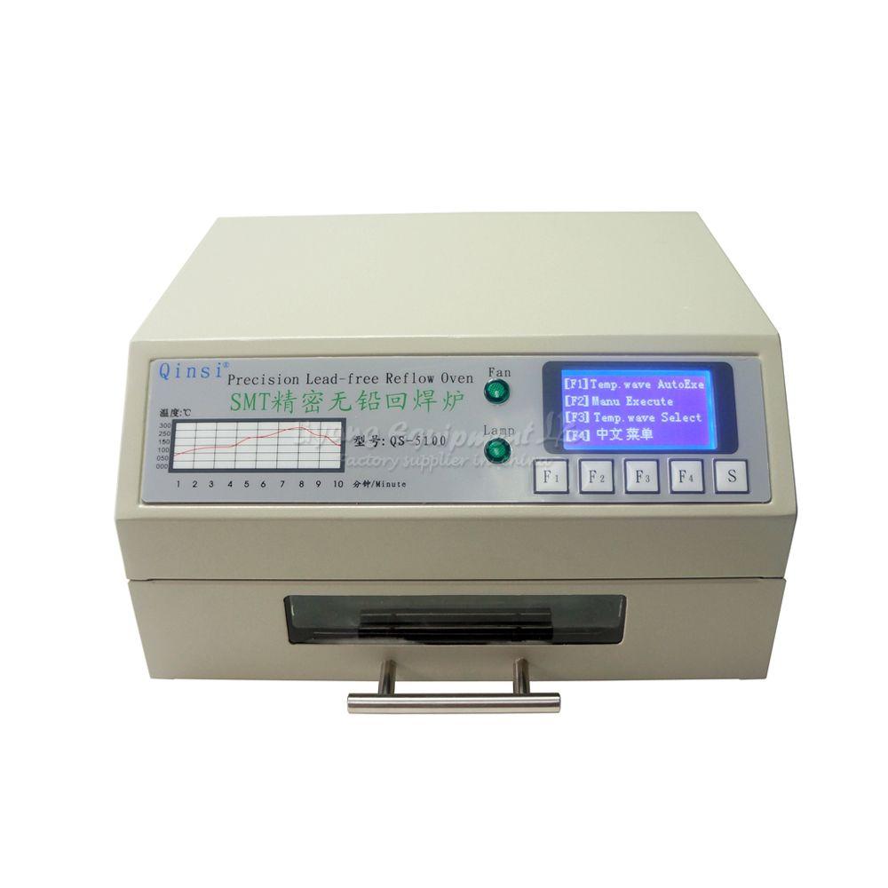 Großhandel Desktop Automatische QS-5100 IC Heizung Infrarot Reflow Wave Oven 600 watt löten heizung ausrüstung
