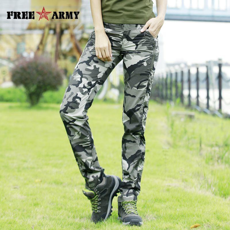 Nouveau modèle pantalons d'été femmes Camo pantalons décontractés armée militaire pantalon droit coton pantalon Capris femme grande taille