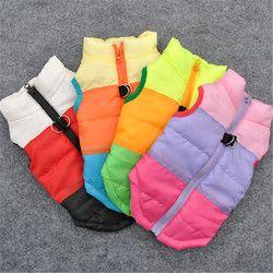 Invierno Ropa Para Perros Mascotas Coat Jacket Chaleco Arnés Del Perrito ropa Para Mascotas Perro Suéter Camisa Ropa para Perros 15S1