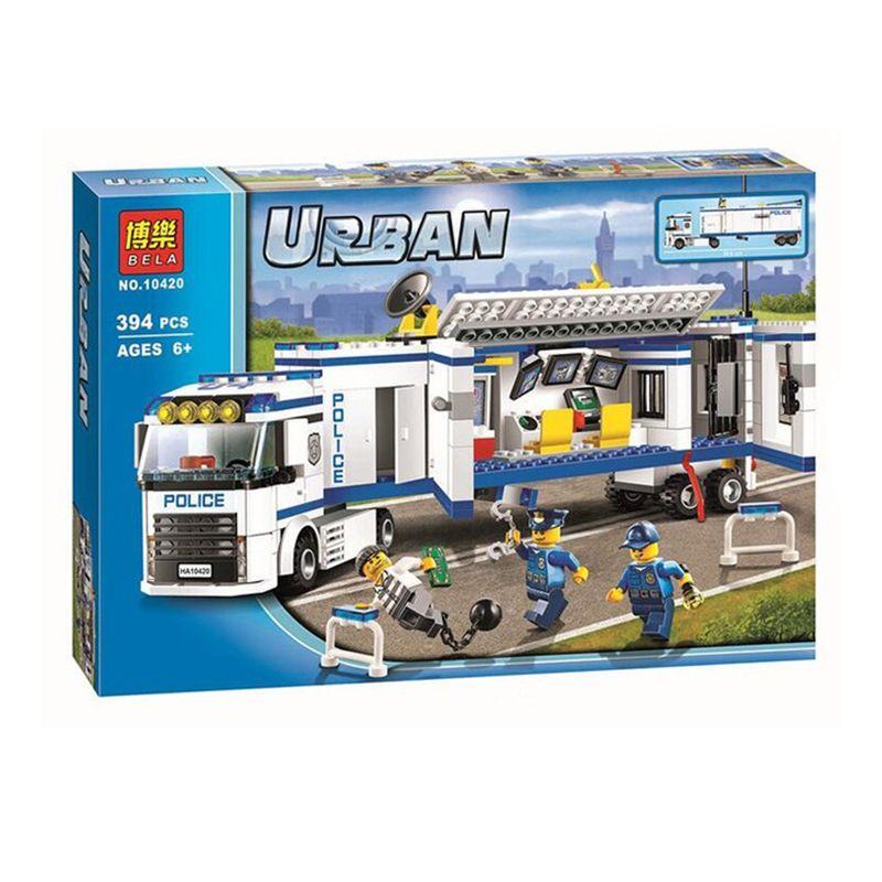 394 Pcs Bela 10420 Urbain Fluidité Police Station Building Blocks Assemblé Briques Jouets Pour Enfants Compatible Avec Legoe 60044