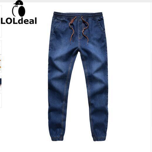 Loldeal Closing leg jeans spring 2018 new fashion male taxi fertilizer XL elastic stretch pants feet pants tide beam
