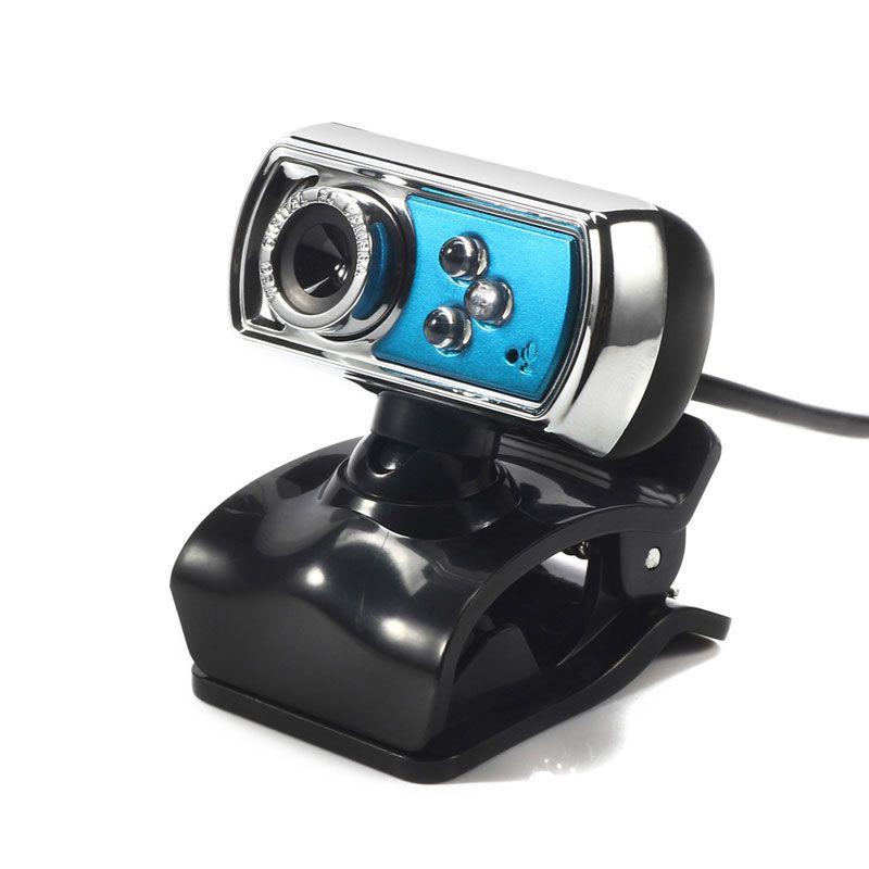 12 MP Webcam HD Haute-définition 3 LED Webcam USB Caméra avec Vision Micro de Nuit pour Ordinateur PC Périphériques bleu
