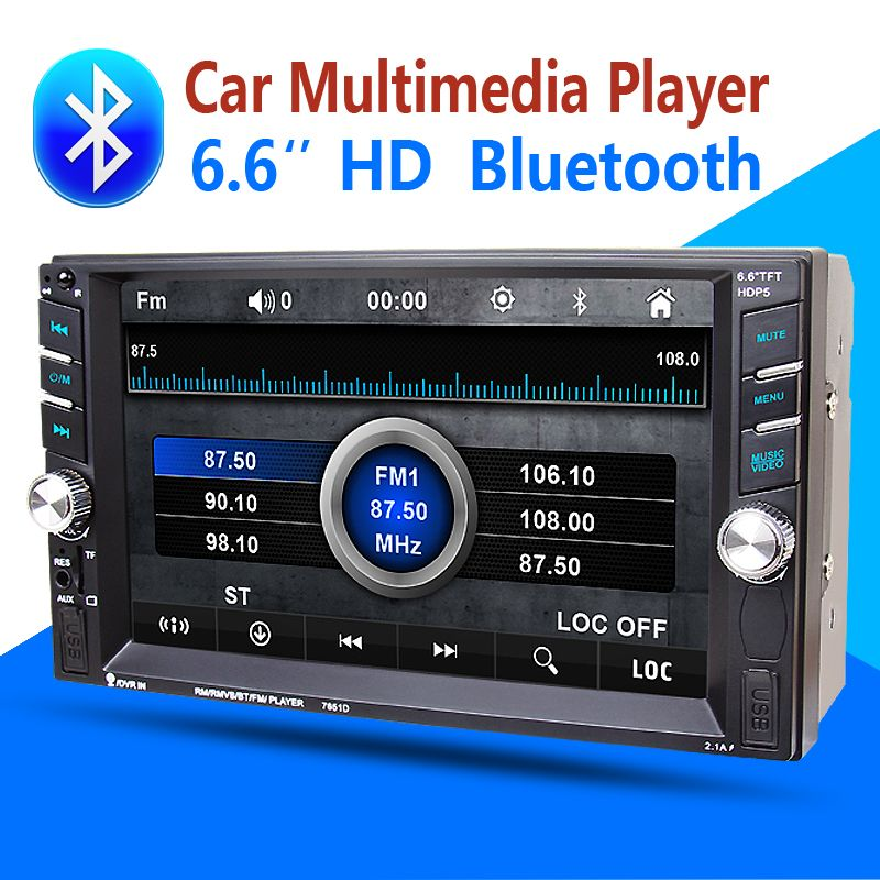 2din Car Multimedia-Player Bluetooth Stereo Radio FM MP3 MP5 Audio VideoUSB Aux Auto Elektronik autoradio lenkung-rad NO-DVD