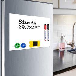 Yibay магнитная доска для записей A4 мягкая магнитная доска, сухая стирания рисования и панель записи для холодильника холодильник с бесплатны...