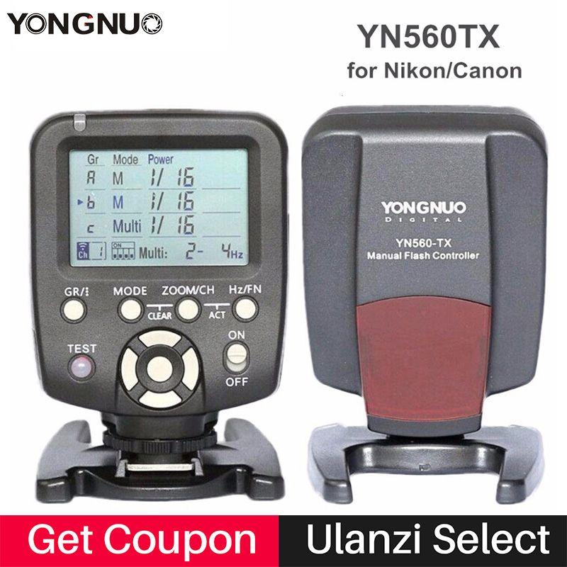 Original YONGNUO YN560-TX YN560TX Wireless Manual Flash Transmitter Trigger Controller for YN-560 III YN560 IV for Nikon Canon