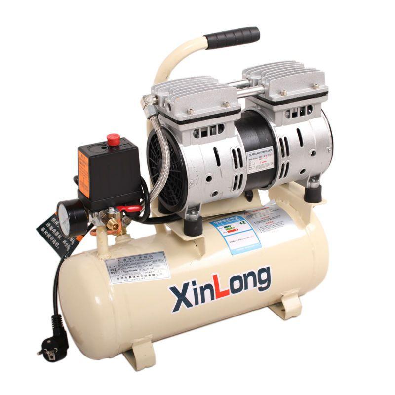 NEW Stille Öl-Free Air Kompressor, kompressor für airbrush, für OCA Laminator Blase Entferner/Staubsauger LCD Separator 550 W/8L Tank