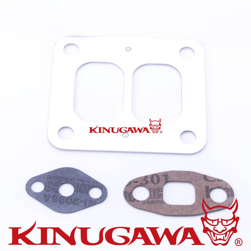 Kinugawa Turbo Turbine Inlet & Oil Gasket Kit for Garrett T4 T04B T04E GT40 GT42 GT45