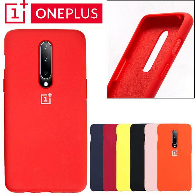 Oneplus 6 housse arrière One Plus 6 t coque de téléphone en silicone liquide souple Oneplus 7 Pro Ultra mince antichoc protection complète