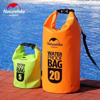 Naturehike Swimming Waterproof Shoulder Bag with Straps 500D thick Ocean Pack River Trekking sea beach Boating big bag Men Women