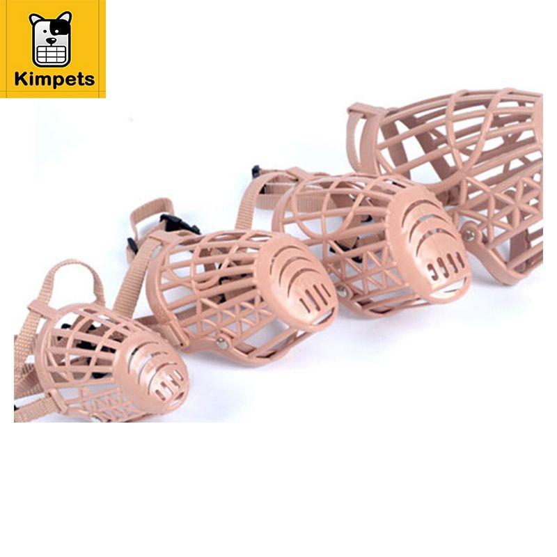 KIMHOME Hund Maulkorb Kunststoff Braun Starke Hund Produkte Verhindern Biss Hund Mund Maske beißen Anpassung Riemen Maske 1-7 Größe