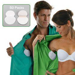 100 piezas 50 paquetes verano Armpit Sweat Pads axilas desodorantes pegatinas absorbente desechable Anti transpiración remiendo al por mayor