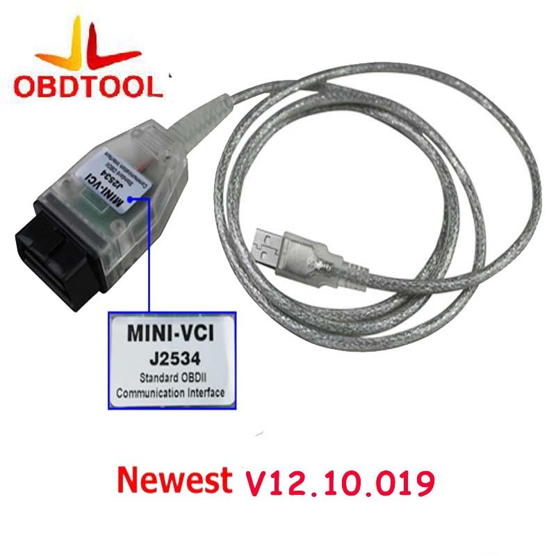 ObdTooL Auto Scanner Mini-VCI J2534 FOR TOYOTA TIS Techstream V12.10.019 Diagnostic Cable MINI VCI Interface Free Ship