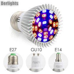 Completo Spectrum18W/28 W E27 E14 GU10 Led crece la luz roja azul UV IR llevó la lámpara creciente para FLORES PLANTAS verduras