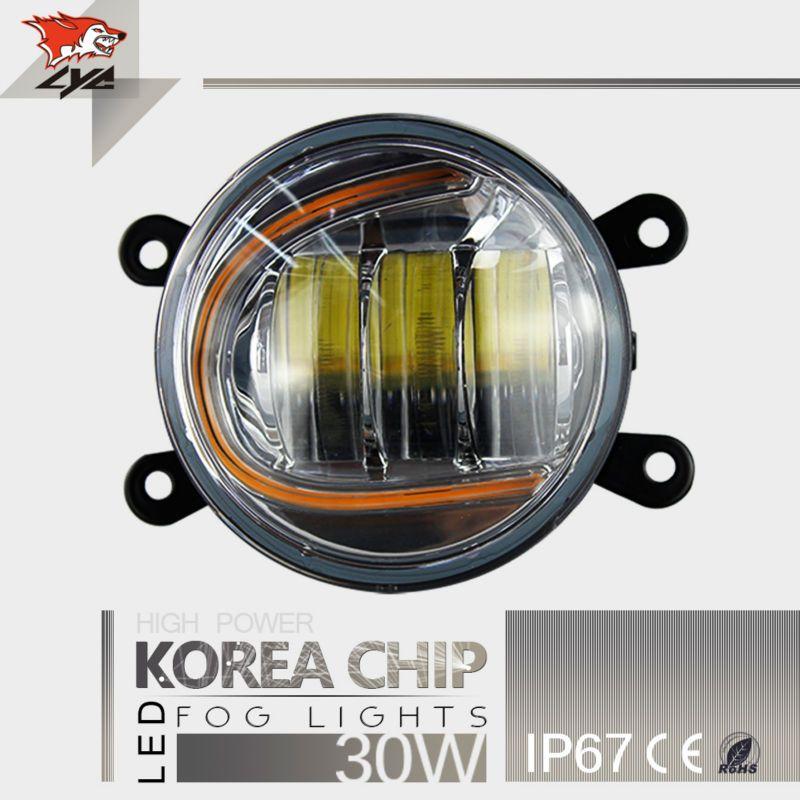 High Power Korea Chip Led Fog Light Projector Headlight Motorcycle Fog Light for Truck Fog Lamp IP67 Daytime Running 3000K 6000K