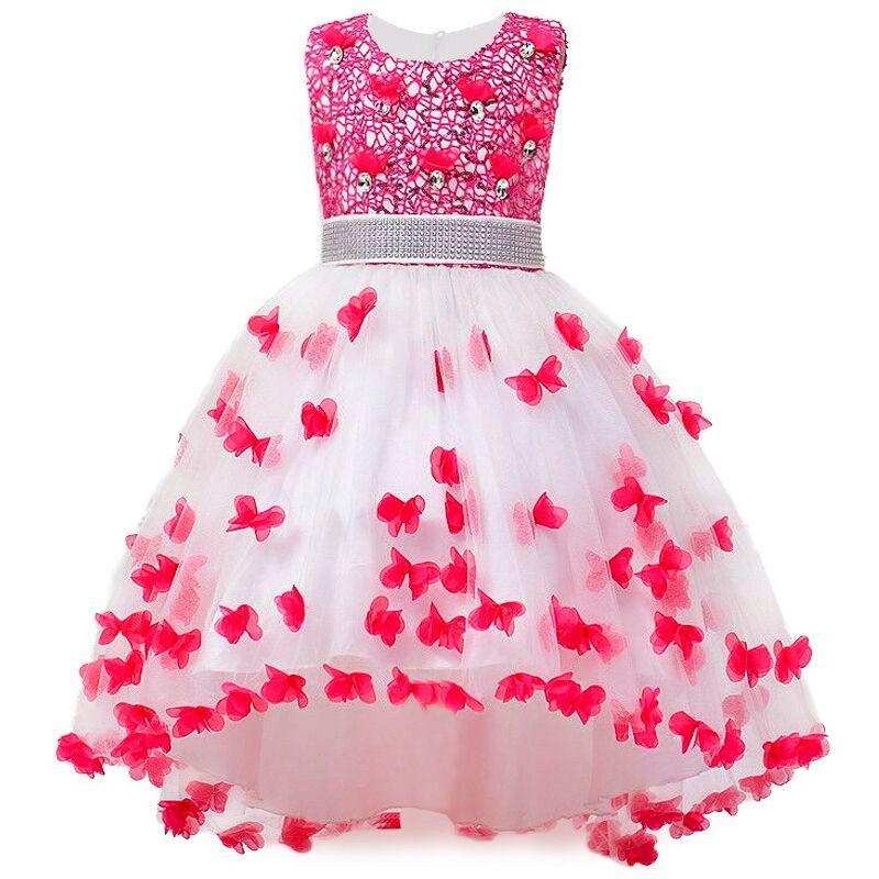 Girl Summer Dress Kids Clothes Flower Girls Dress For Wedding Events Party <font><b>Baby</b></font> Girl Birthday Dress Children Clothing