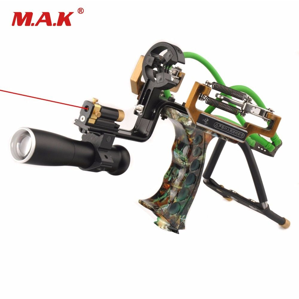 Judge G5 Slingshot Hunting Powerful Catapult Camouflage Stainless Steel Hunter Aluminium Alloy Sling Shot With Clamp and Laser
