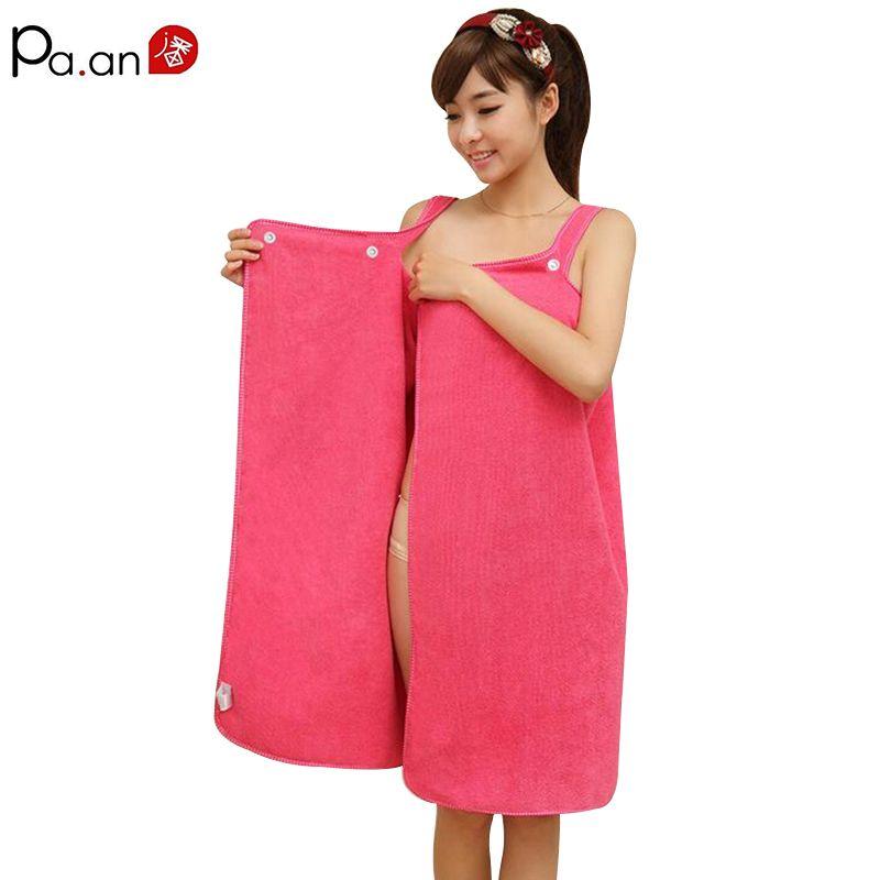 Women Bath Towel Wearable Microfiber Fabric Beach Towel Rose Red Soft Wrap Skirt Towels Super Absorbent Home Textile Hot Sale