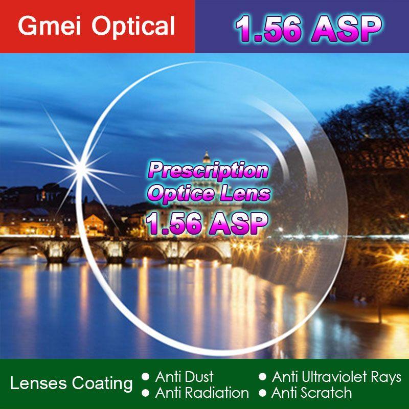 Indice de Protection contre les rayonnements de haute qualité 1.56 lentille optique à Vision unique HMC, lentilles de Prescription Anti-UV asphériques EMI, 2 pièces