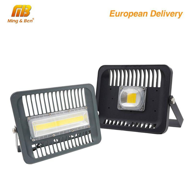 [MingBen] LED <font><b>Floodlight</b></font> 30W 50W 100W Outdoor Lighting 220V230V High Brightness IP65 CE For Square Garden Garage Ship form ES RU