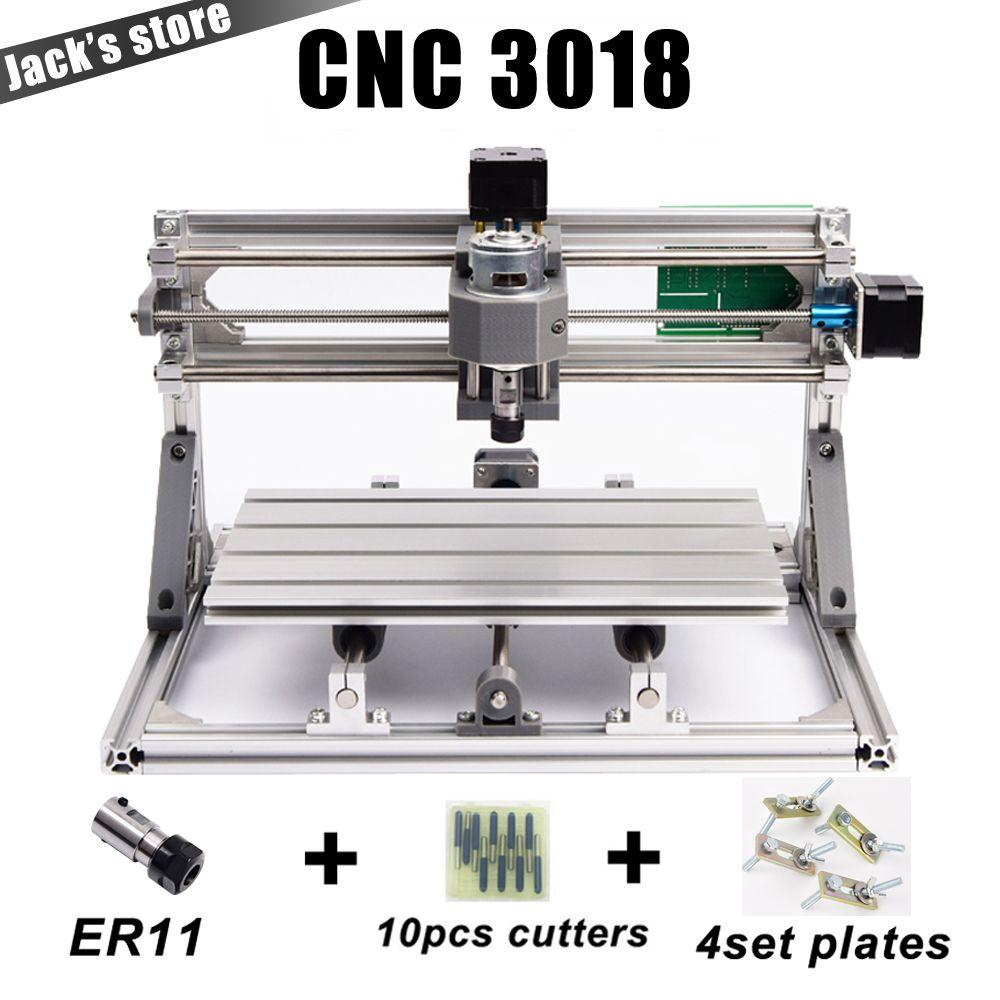 CNC3018 avec ER11, bricolage machine de gravure de commande numérique par ordinateur, Fraiseuse Pcb, Sculpture Sur Bois Machine de routeur de commande numérique par ordinateur, cnc 3018, GRBL, meilleur Avancé jouets