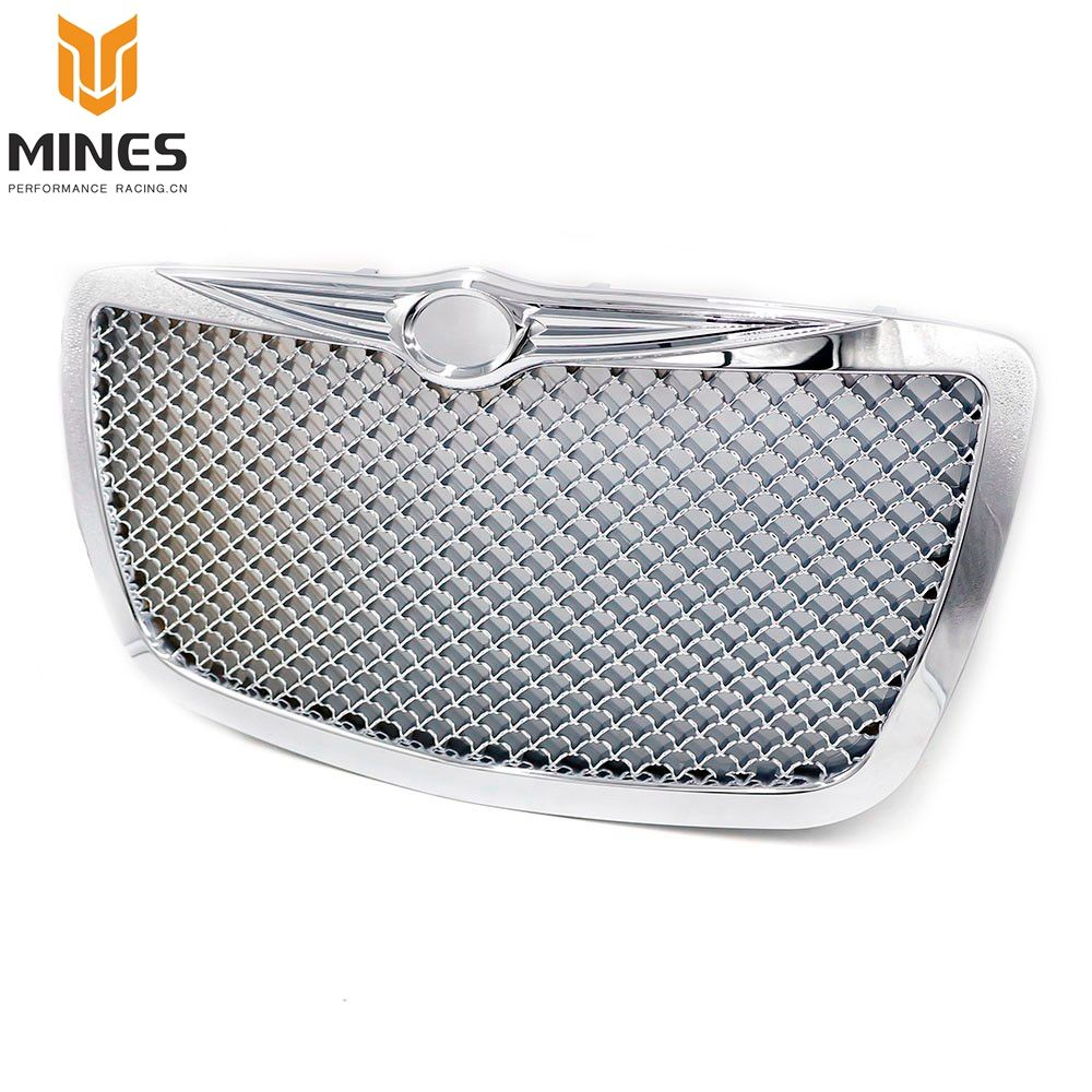 CNSPEED Racing Car front Grills for 2004 2005-2010 Chrysler 300 300C Limited Touring Chrome Hood Grill Mesh Grille  MS101088