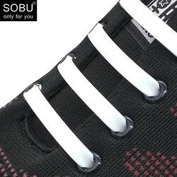 16 Pcs/Lot New Non Cravate Lacets de Silicone Lacets Créatifs Pour Unisexe Femmes de Course Élastique Silicone Lacet De Chaussure Tous Les Baskets N002