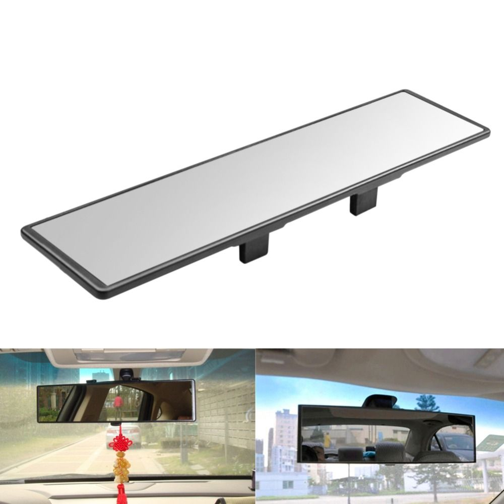 High Coverage Car Rear View Mirror Auto Interior Curved Wide Flat Square Rearview Mirrors Auto Clip On Reverse Blind Spot Mirror