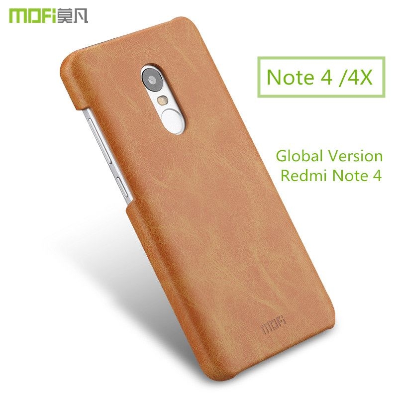 For Xiaomi Redmi Note 4 Pro case redmi note 4X case Global Version for Xiaomi Redmi Note 4 case MOFi back PU leather capa coque