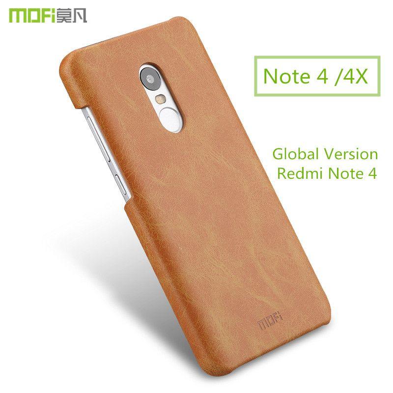 Pour Xiaomi Redmi Note 4 Pro cas redmi note 4X cas Mondiale Version pour Xiaomi Redmi Note 4 cas MOFi retour PU en cuir capa coque