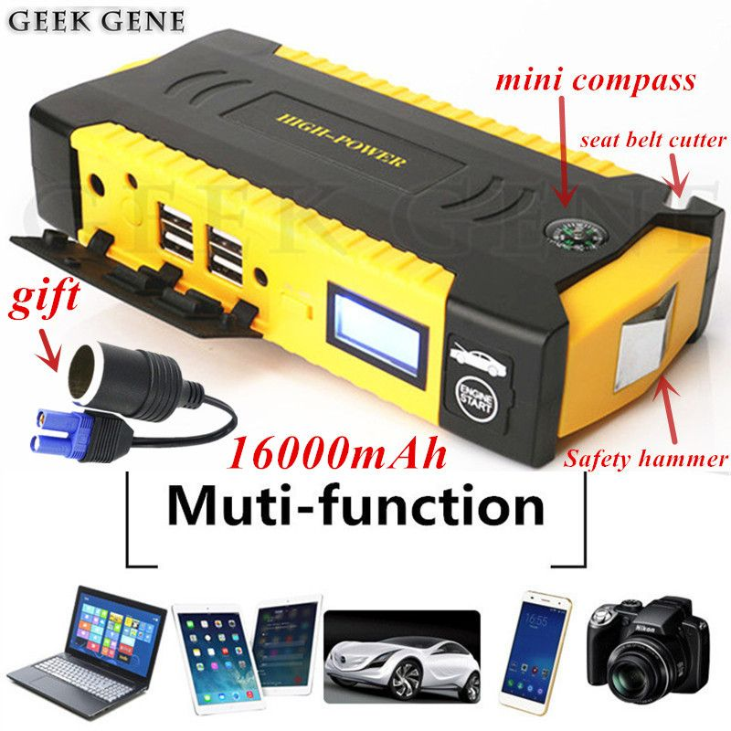2018 Mini Car Jump Starter Portable 12V Car-Styling Emergency Starting Device Diesel Charger For Car Battery Booster Buster Auto