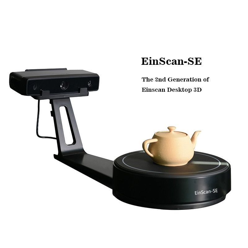 EinScan-SE White Light Desktop 3D scanner,0.1 mm Accuracy, 8s Scan Speed, 700mm Cubic Max Scan Volume, Fixed/Auto Scan Mode
