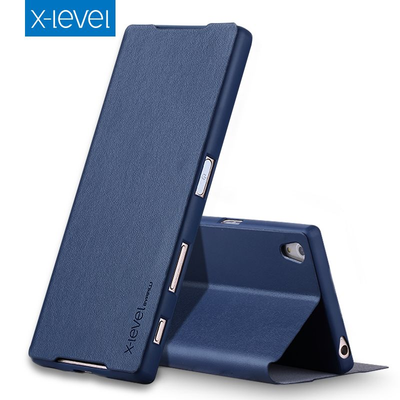 X-Level PU Leather Case For Sony Xperia Z5 Dual E6633 Luxury Stand Cover For Fundas Sony Z5 E6653 Business Style Flip Case