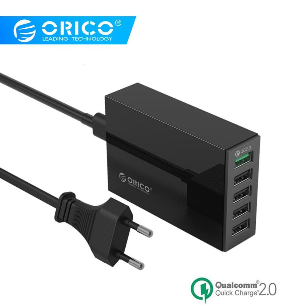 ORICO QSL-5U 5 Ports USB Chargeur QC 2.0 5V8A 40 W Max De Bureau Rapide Chargeur pour iPhone Samsung S6 Xiaomi huawei
