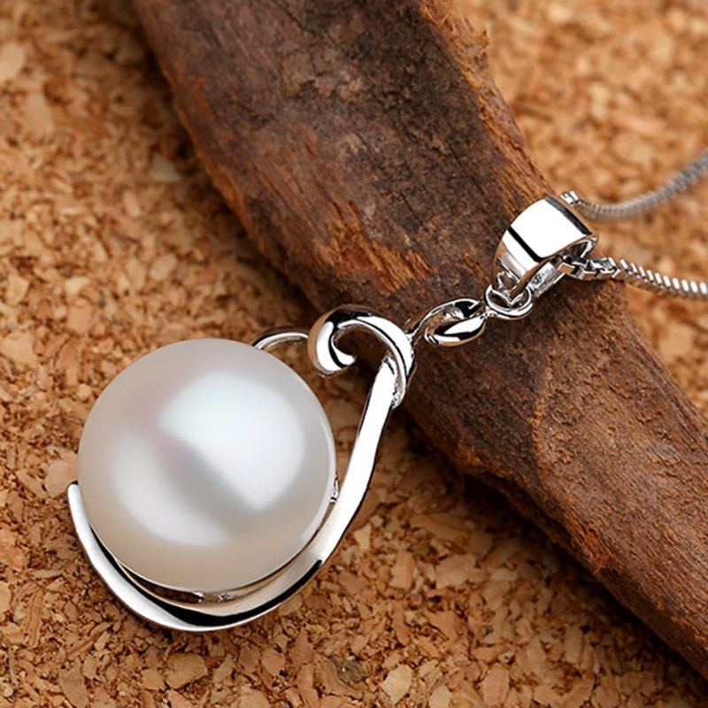 Sinya véritable collier pendentif perle 925 charme en argent sterling pour les femmes garantie bijoux fins polis à la main avec chaîne de boîte de 18 pouces