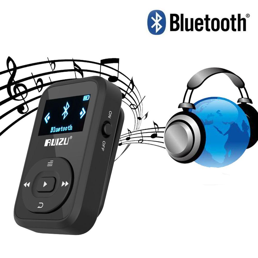Mini Clip MP3 RUIZU X26 lecteur MP3 Bluetooth 8GB Sport Mp3 lecteur de musique enregistreur FM Radio prise en charge carte SD lecteur de musique mp3