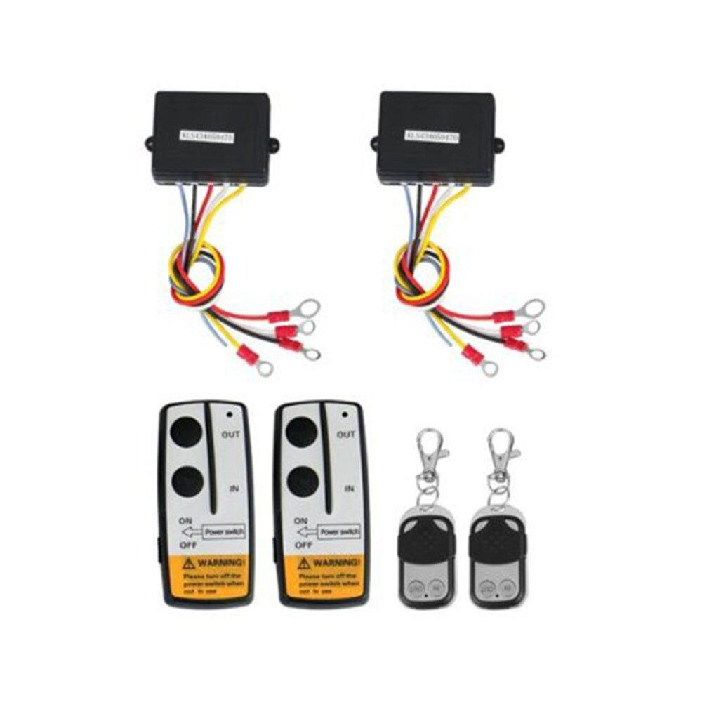 Marsnaska 2017 hot sale 2 x Wireless Winch Remote Control Kit 12V 50ft For Truck Jeep SUV ATV