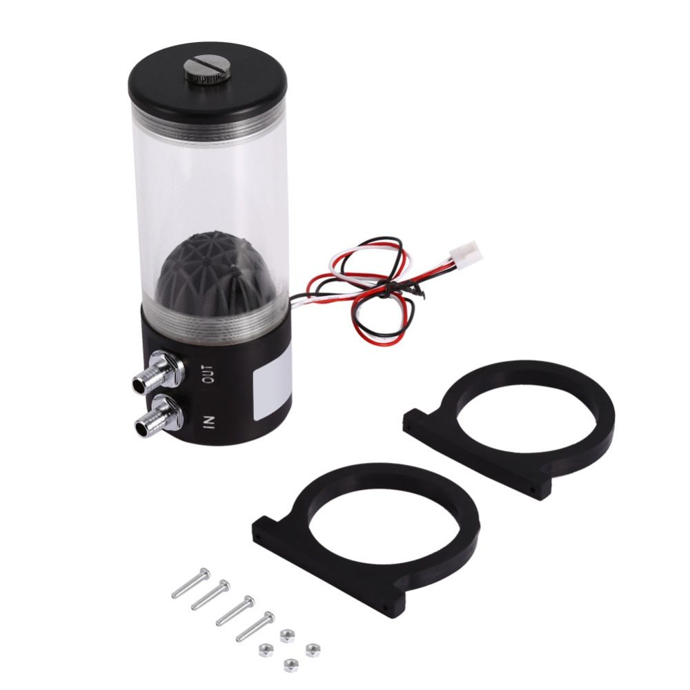 500L/H 10W DC 12V Water Cooling DC Pump Tank 250ML F/ pc CPU CO2 Water Cooled Free shipping