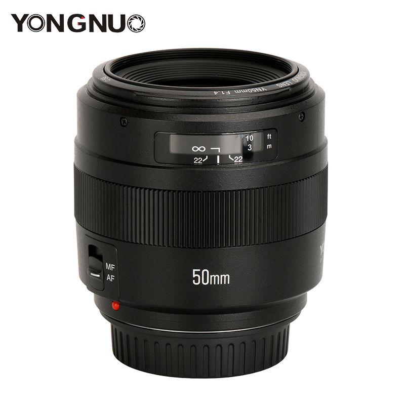 YONGNUO 50mm Lens YN50mm F1.4 Standard Prime Lens Large Aperture Auto Focus Lens Support Lv Mode for Canon EOS 70D 5D3 800D DSLR