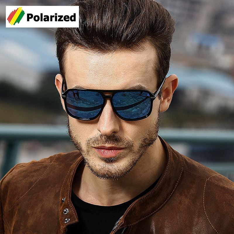 JackJad 2018 mode classique carré Aviation Style lunettes De soleil polarisées hommes conduite marque Design lunettes De soleil Oculos De Sol A523