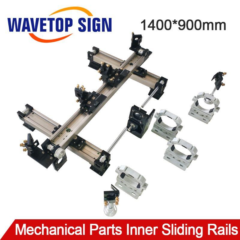 WaveTopSign Mechanische Teile Set 1400*900mm Innere Schiebe Schienen Kits Ersatzteil für DIY 1490 CO2 Laser Gravur schneiden Maschine