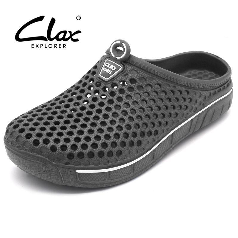 Clax сад забивают Обувь для Для мужчин быстрое высыхание летние сандалии для пляжа плоские дышащие сандалии для прогулок мужской Садоводство...