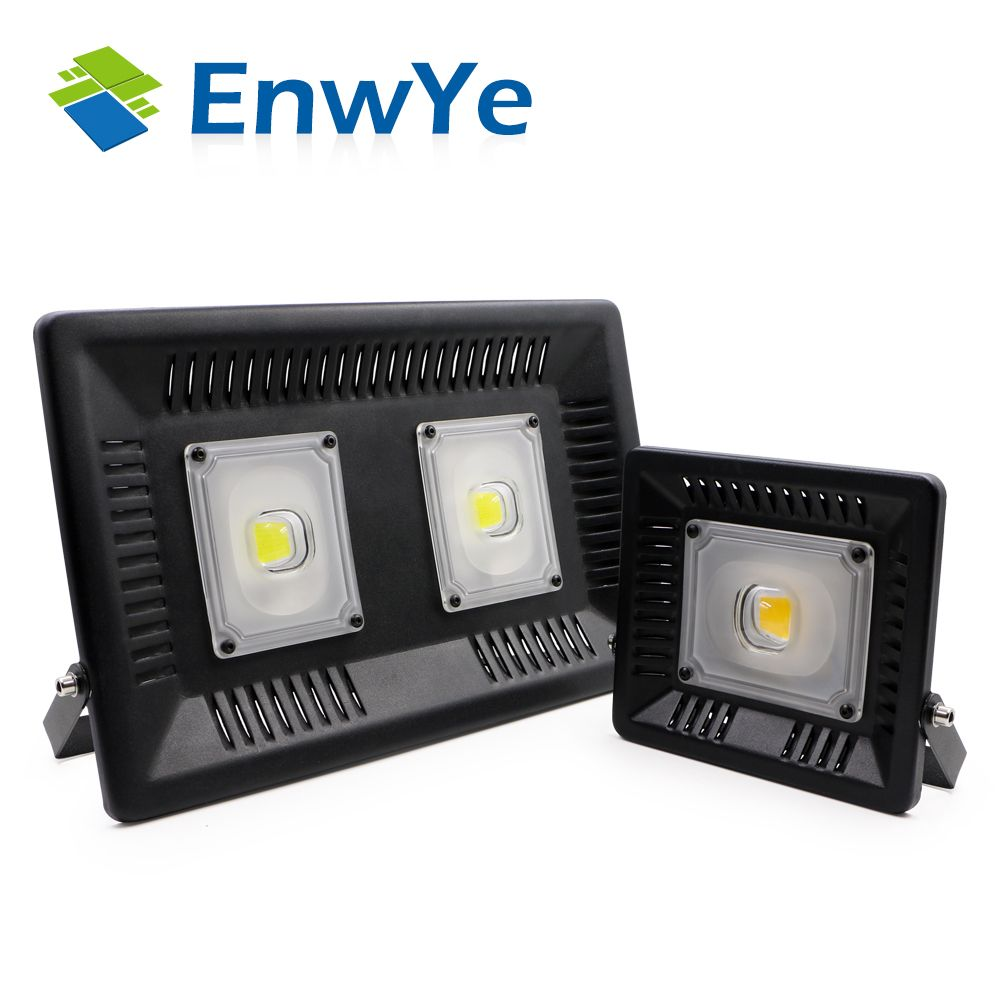 EnwYe 50W 100W perfect power LED Flood Light Floodlight LED street Lamp 220V waterproof Landscape Lighting IP65 led spotlight