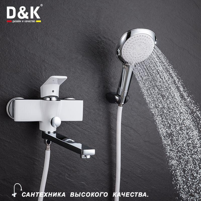 D&K Смесители для ванны латунь белая латунь холодной и горячей воды кран DA1433316