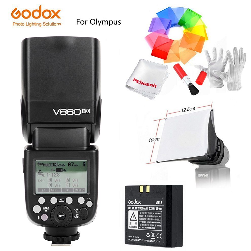 Godox Speedlite Strobe V860II-O V860IIO / X1T-O Trigger for Olympus Panasonic Lumix Camera Flash TTL HSS GN60 High Speed 2.4G