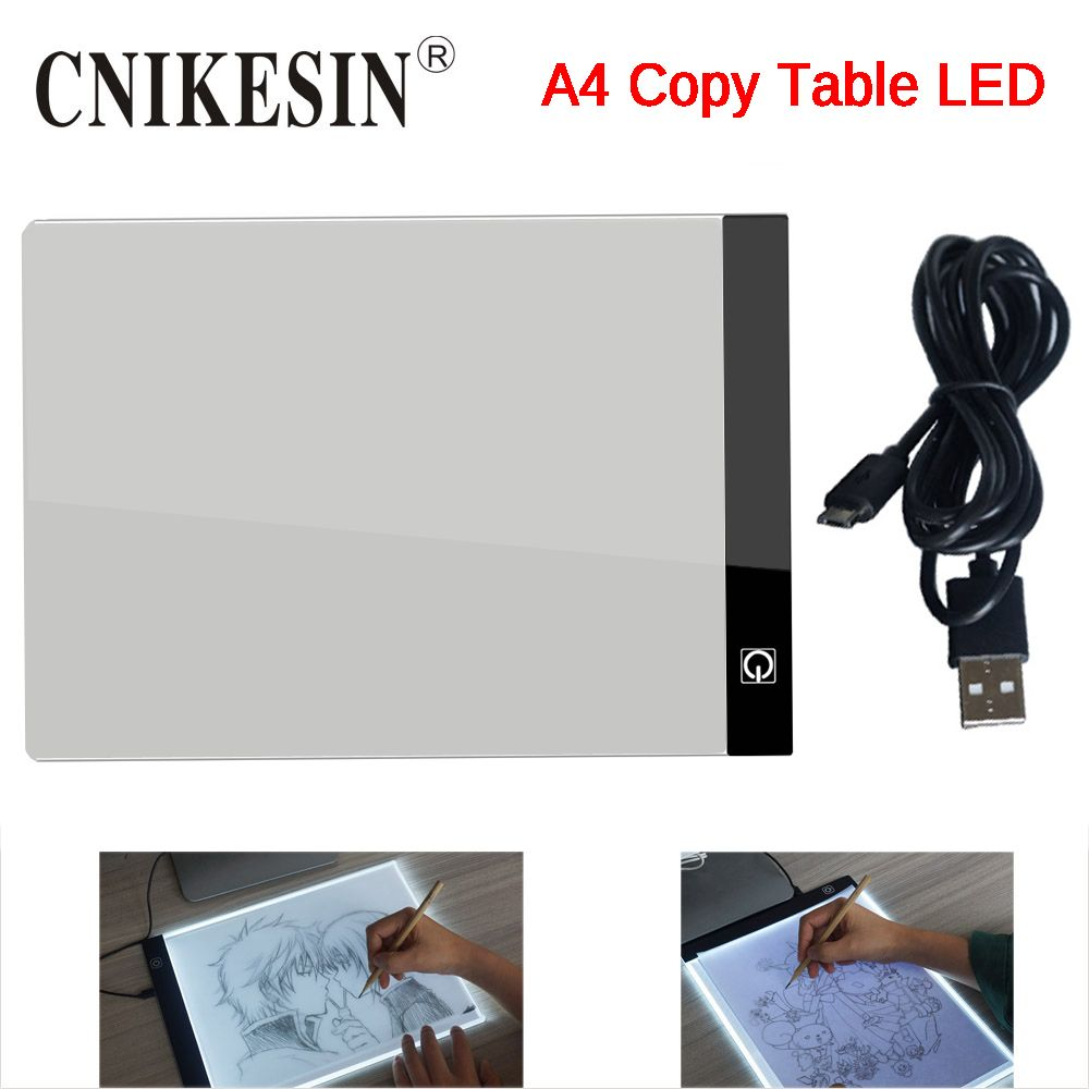 CNIKESIN A4 LED Graphic Tablet Writing Painting Light Box Tracing Board Copy Pad Digital Drawing Tablet Artcraft A4 Copy Table