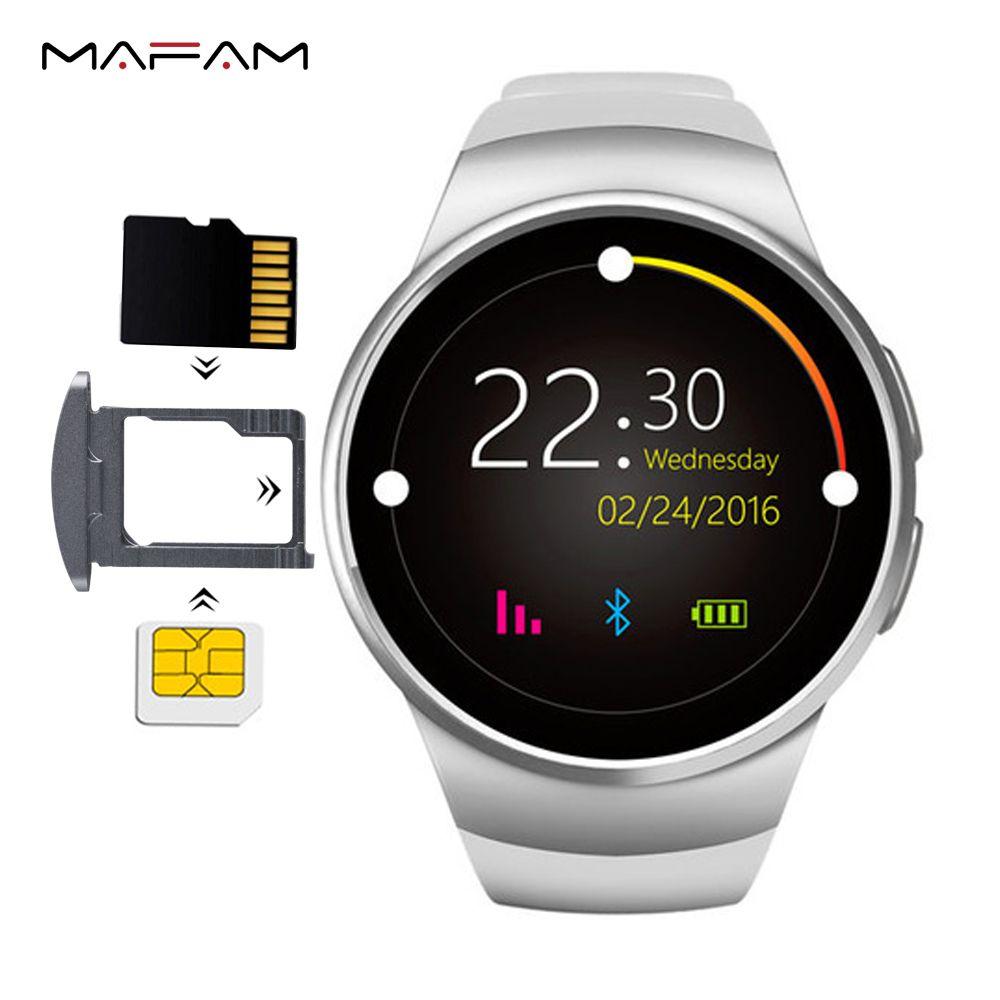 KW18 Smart Montre SIM TF Fente Pour Carte Dialer Smartwatch Téléphone MP3 Vidéo Magique Voix Moniteur de Fréquence Cardiaque Podomètre pour android ios