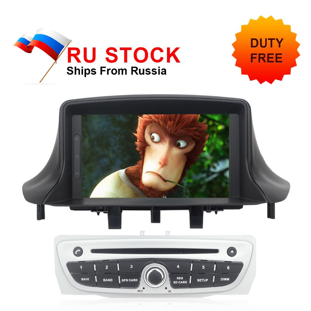 Auto GPS Radio For Megane 3 2009 2010 2011 2012 2013 2014 Fluence Car DVD IPS Screen Android 8.0 GPS Navigation Audio Video Unit