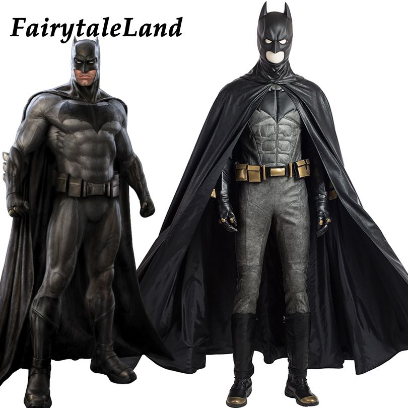 Justice League Batman cosplay Costume Superhero Halloween costumes for adult custom made cosplay Batman Costume leather suit