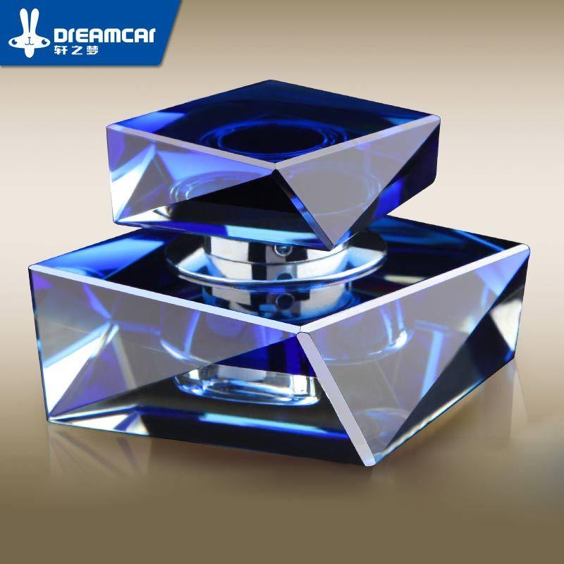 Voiture De Parfum En Cristal De Voiture Bloc De Parfum Losange Vehienlar Décoration Accessoires De Voiture Fournitures