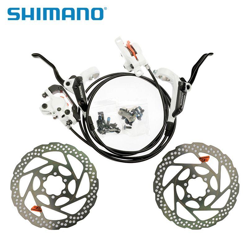 SHIMANO Radfahren Bike BR-BL-M355 Hydraulische MTB Bike Fahrrad Disc Set Vorne und Hinten Bremssättel Hebel 2 stücke RT56 160mm Rotoren